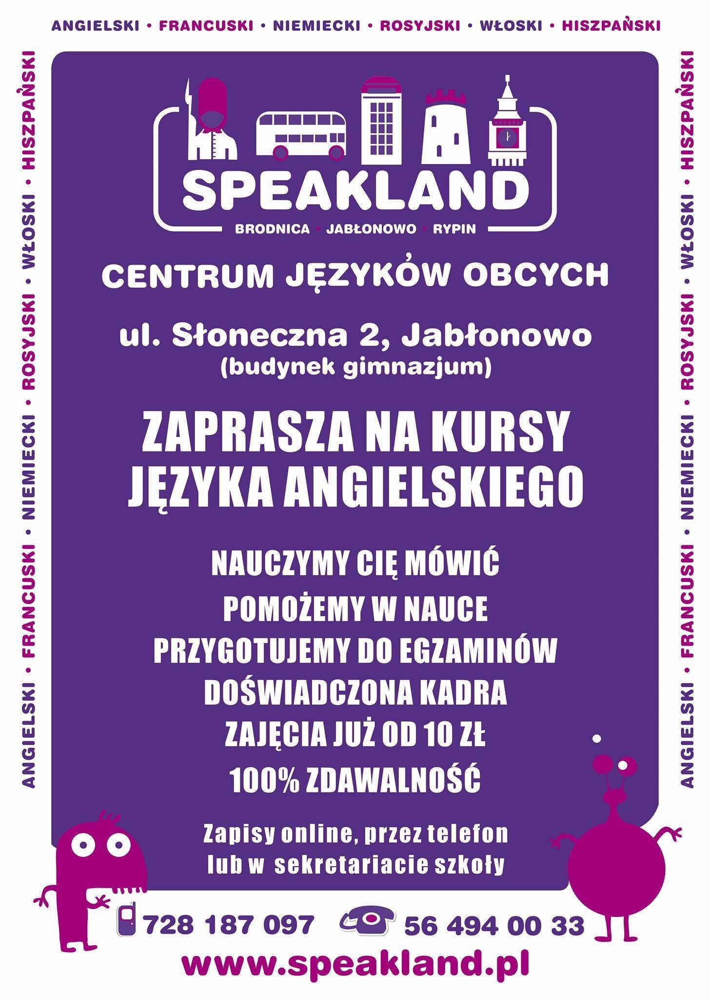 Speakland Szkoła Języków Obcych W Brodnicy